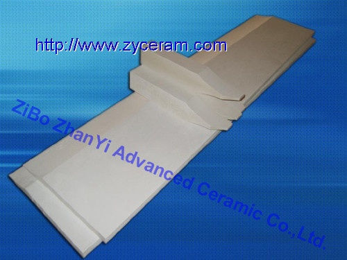 Casting sheet tip for continuous cast aluminium sheet