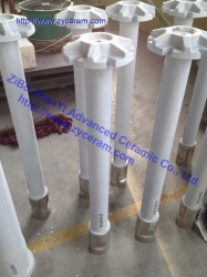 Si3N4 Bond SiC Degassing Rotor Shaft For Aluminum Casting