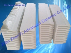 ceramic fiber continuous castertips used on continuous thin strip aluminum